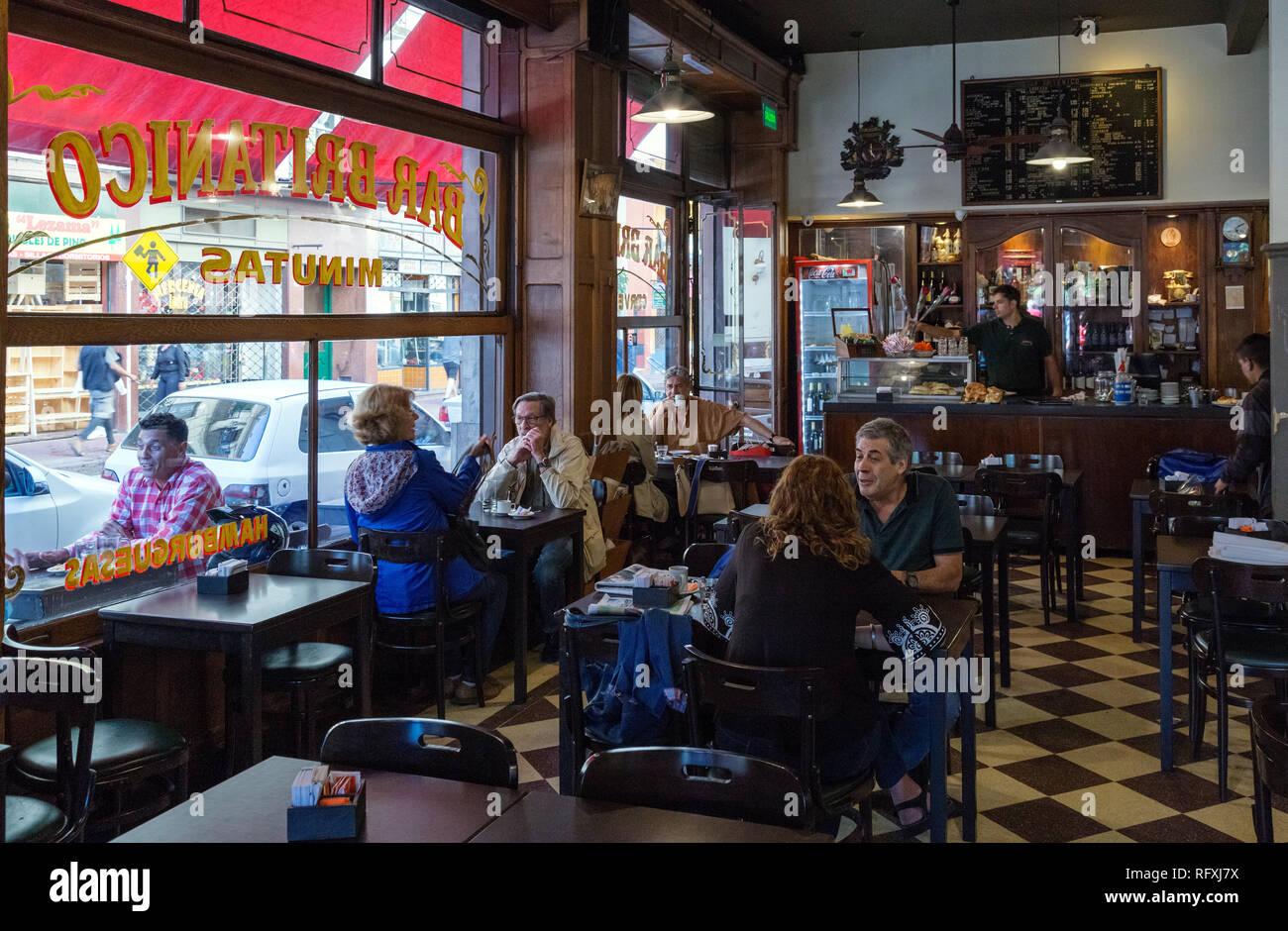 Bar Britanico. San Telmo, Buenos Aires, Argentina. - Stock Image