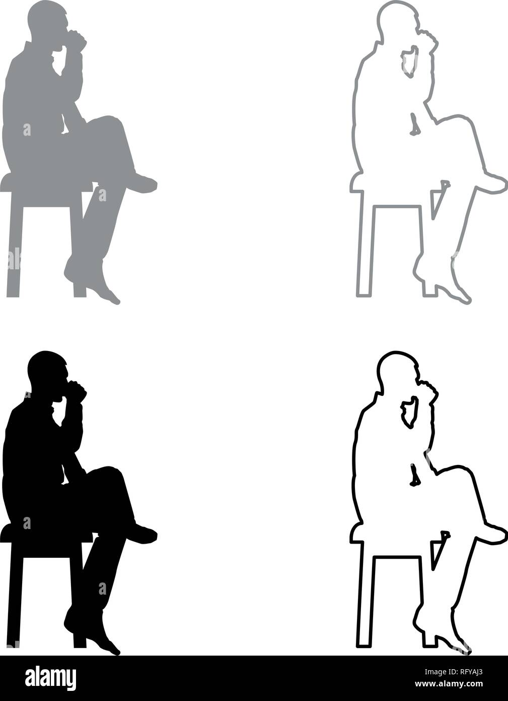 Admirable Man Drinking From Mug Sitting On Stool With Crossed Leg Forskolin Free Trial Chair Design Images Forskolin Free Trialorg