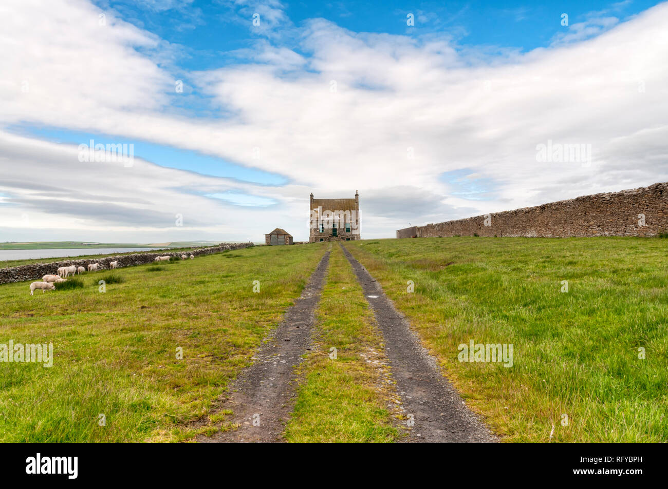 The  Hall of Clestrain on Mainland Orkney was John Rae's birth place - 19th century Arctic explorer.  DETAILS IN DESCRIPTION. Stock Photo