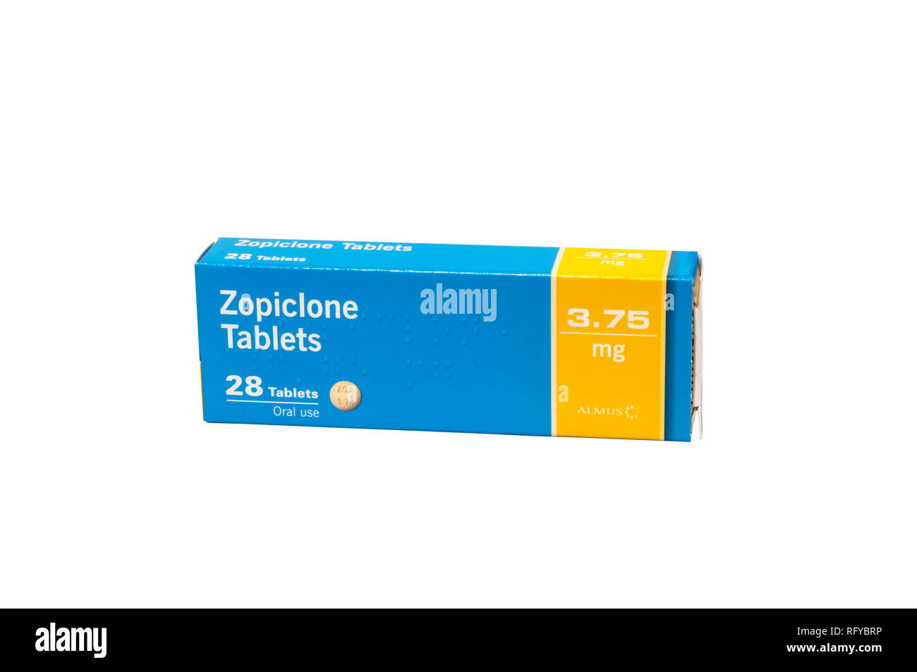 A packet of Zopiclone tablets  Used in the treatment of