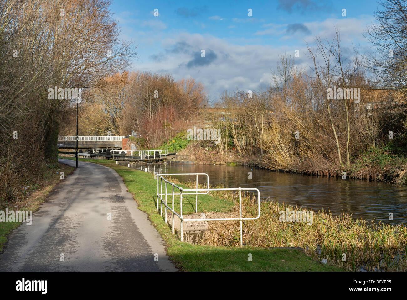 The Don Navigation, Tinsley, Rotherham, South Yorkshire, UK - Stock Image