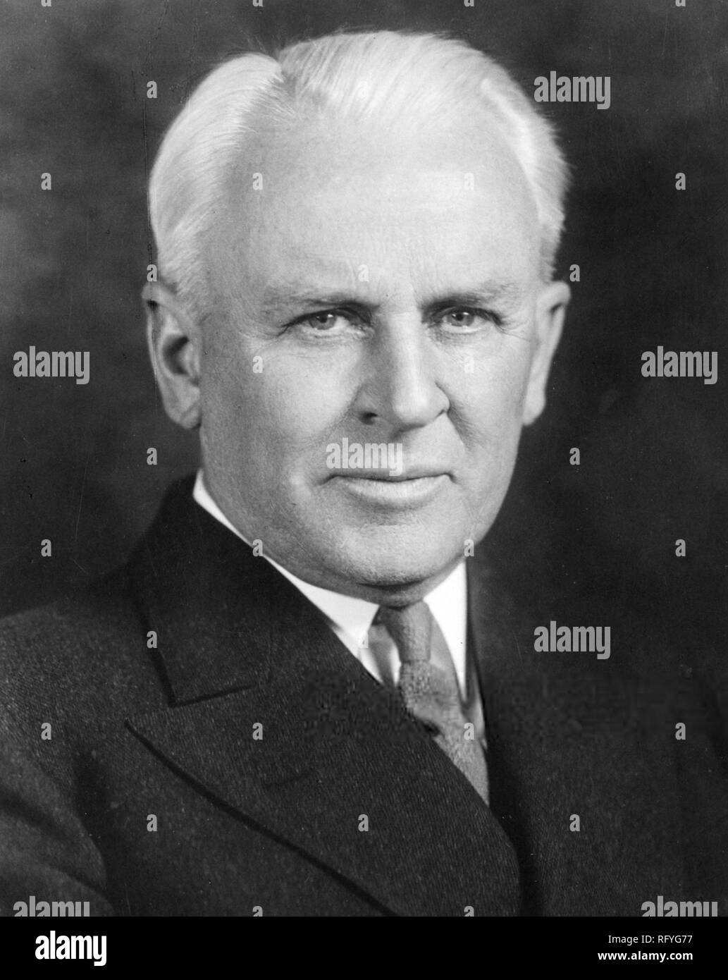 Robert Andrews Millikan (1868 – 1953) American experimental physicist - Stock Image