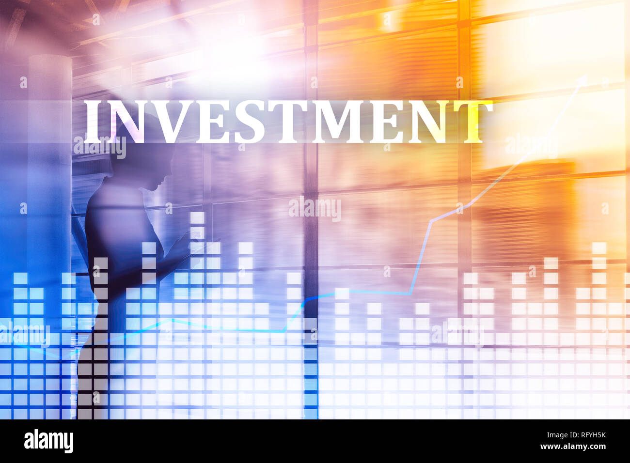 Investment, ROI, financial market concept. Business people . - Stock Image