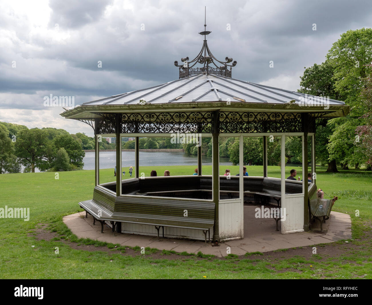 The Bandstand in Roundhay Park, Leeds, Yorkshire, England, UK. Stock Photo