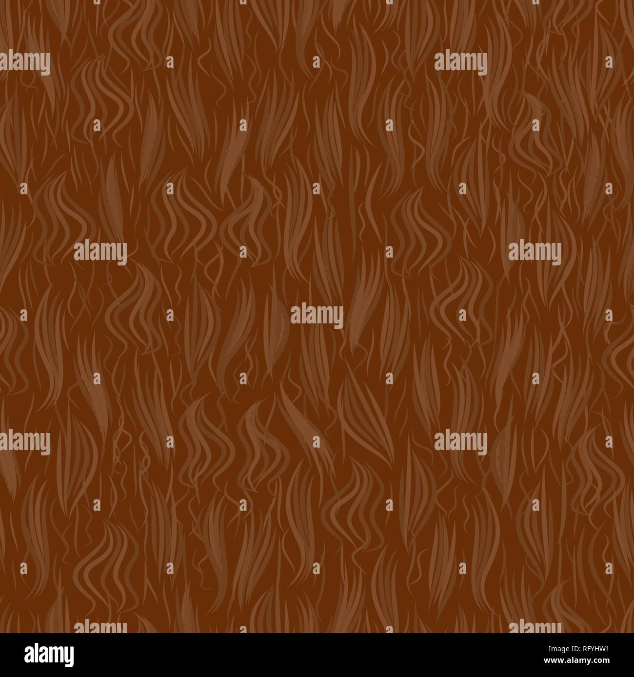 The texture of the brown fur. Seamless pattern background. Vector illustration. The skin of a wild animal. Stock Vector
