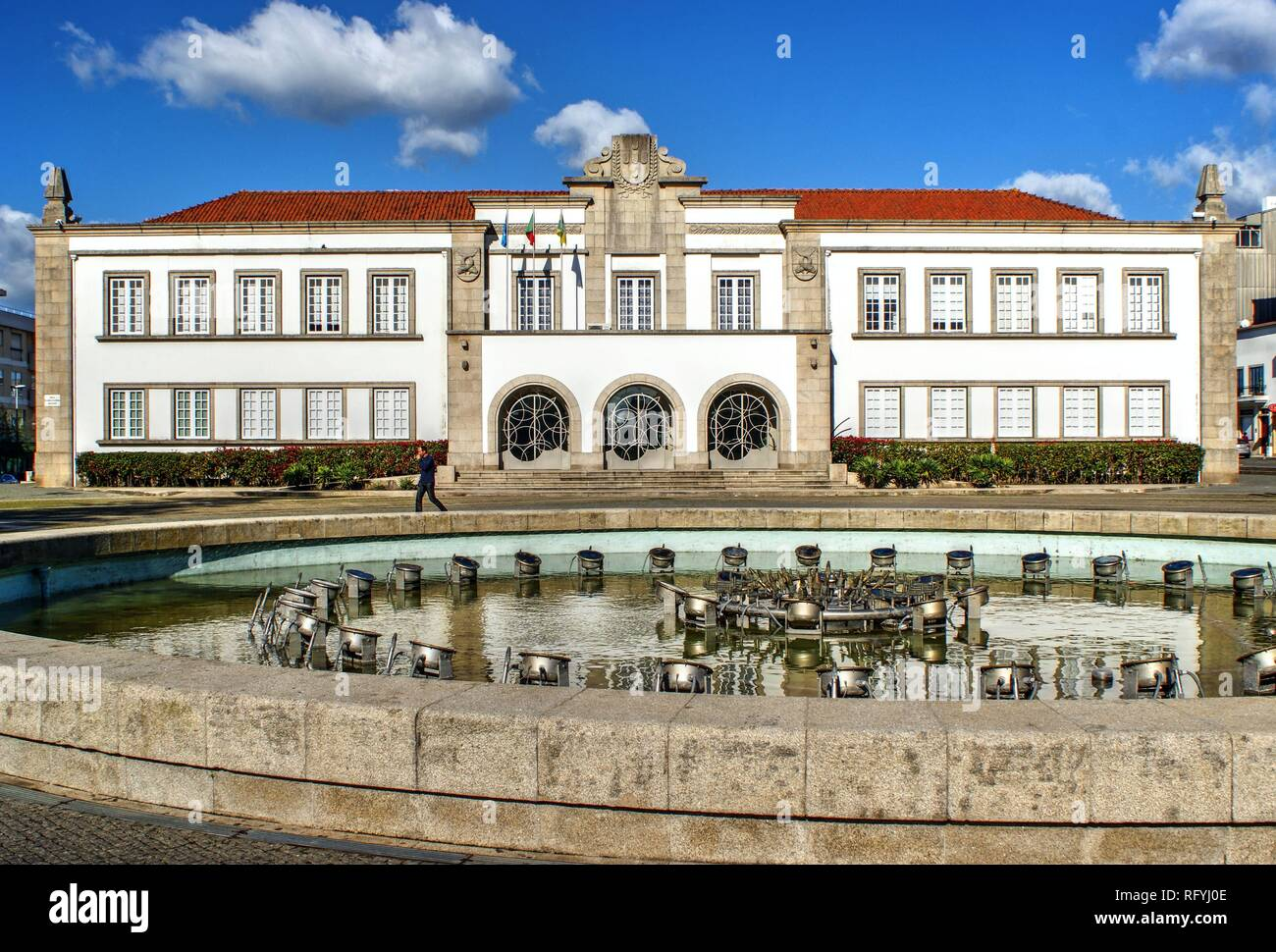 City Hall of Espinho, Portugal - Stock Image