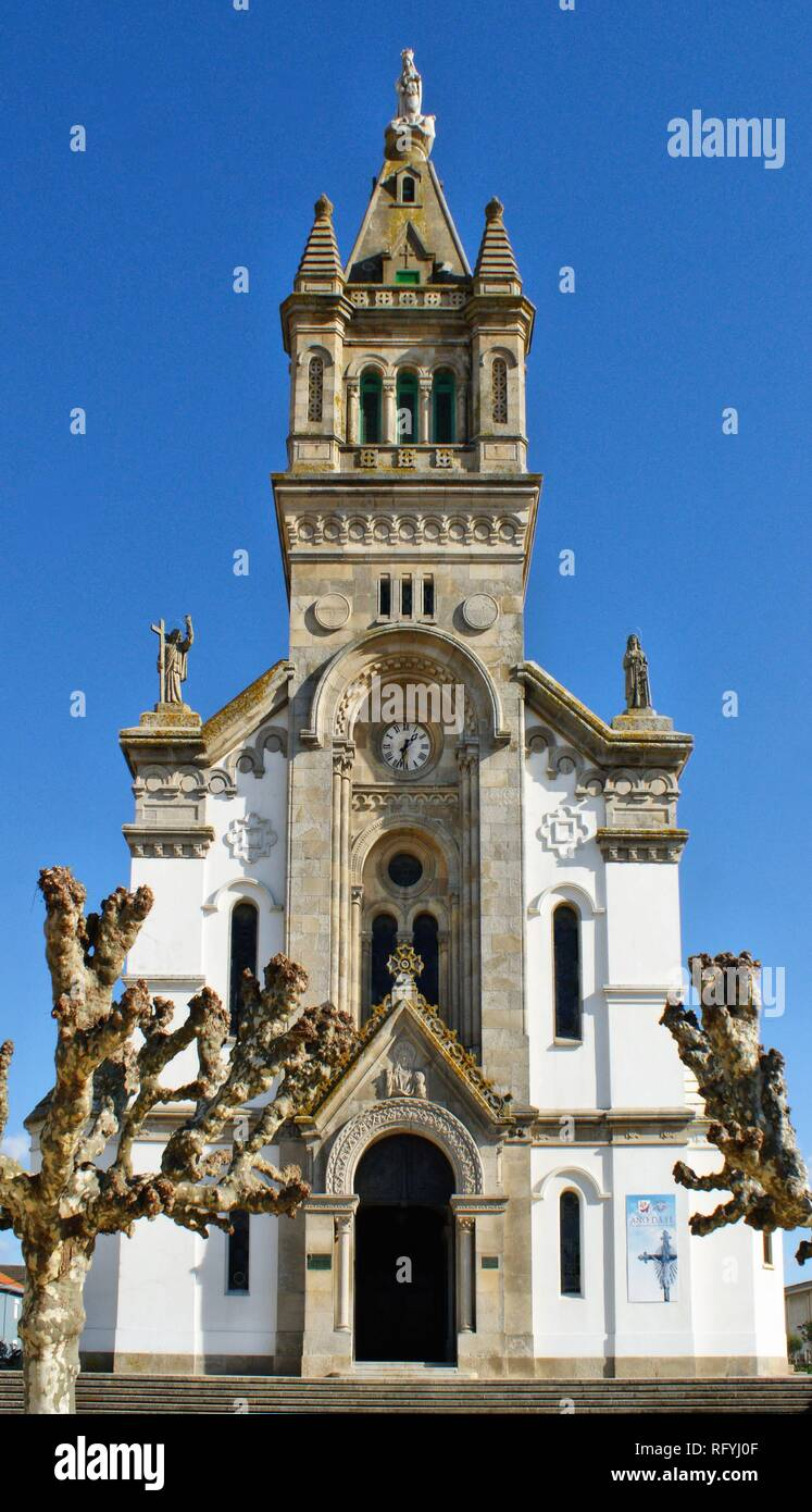 Mother Church of Espinho, Portugal - Stock Image