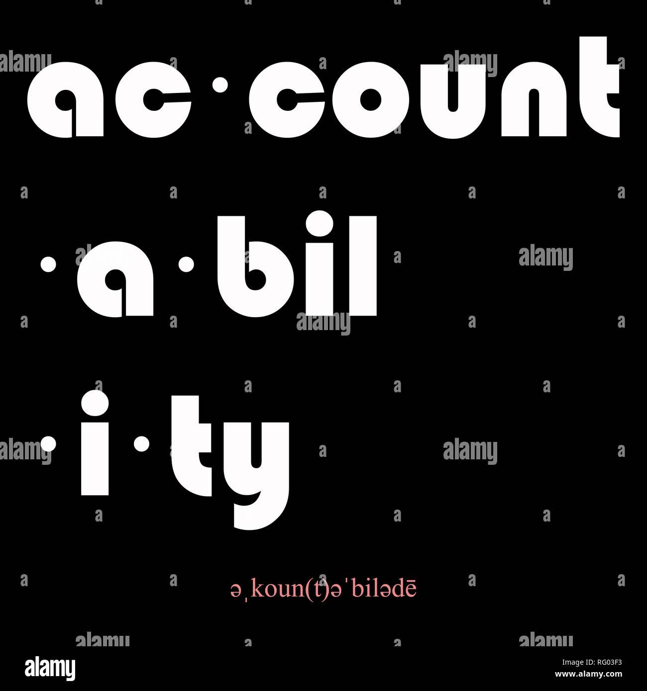 accountability accountability.jpg - RG03F3 - Stock Image