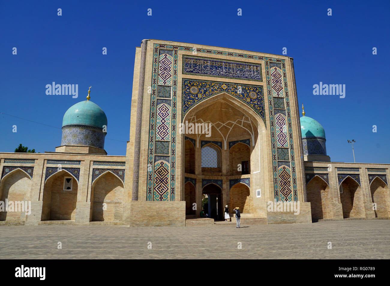 Barak-Chan-Madrese and Goruma in Tashkent, Uzbekistan - Stock Image