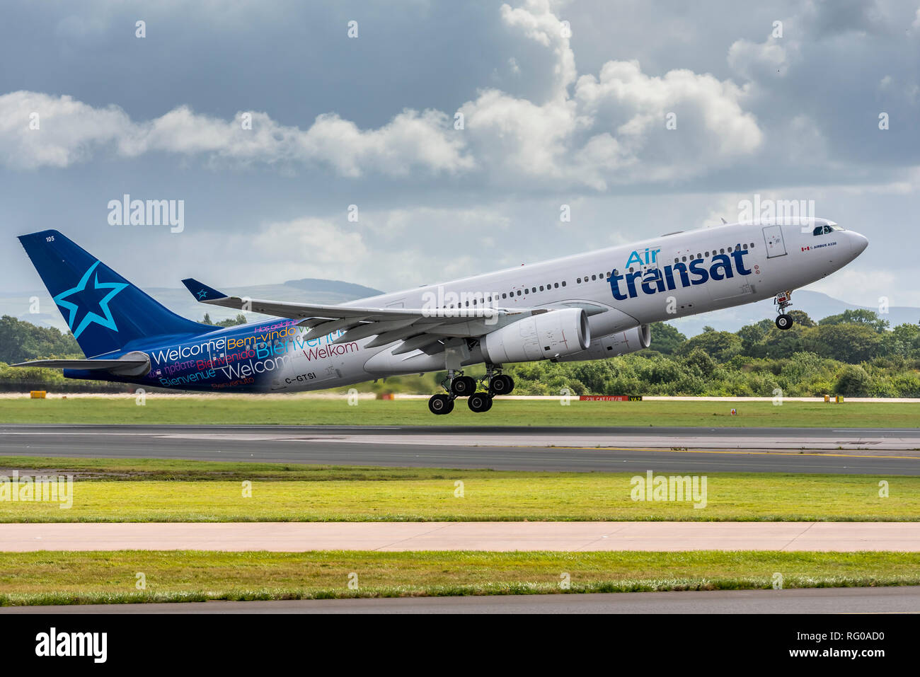 Air TRansat Airbus A330. - Stock Image