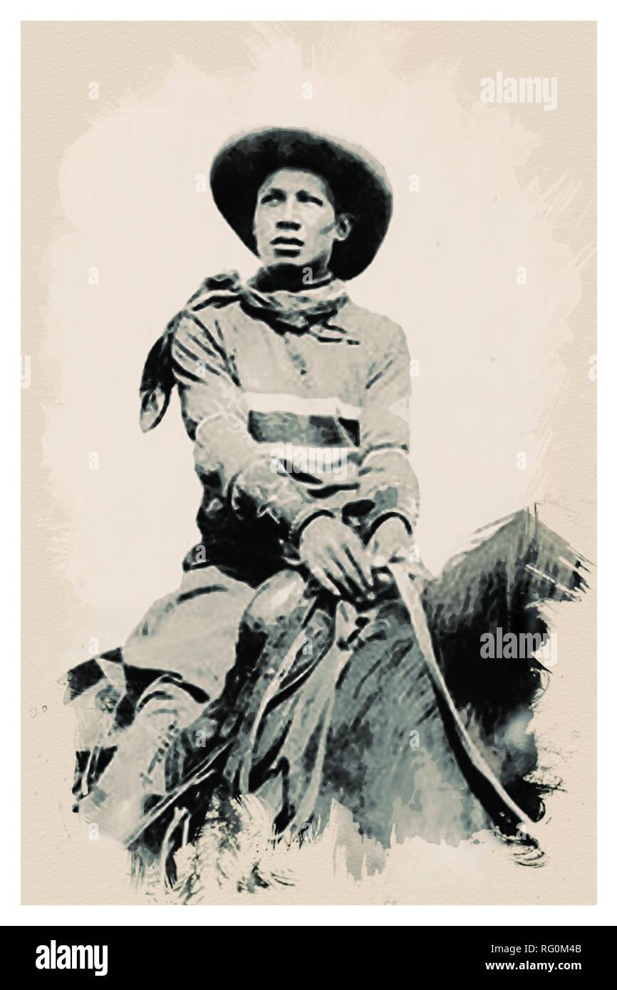 Native American Indian Portrait Profile Series - No 1.jpg - RG0M4B 1RG0M4B - Stock Image