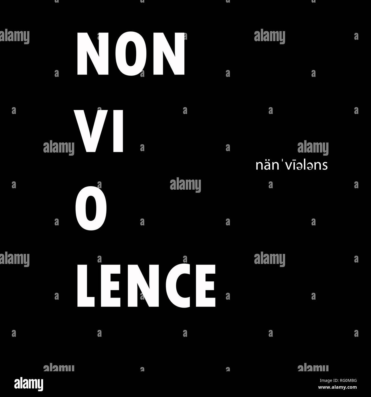 nonviolence.jpg - RG0MBG  - Stock Image