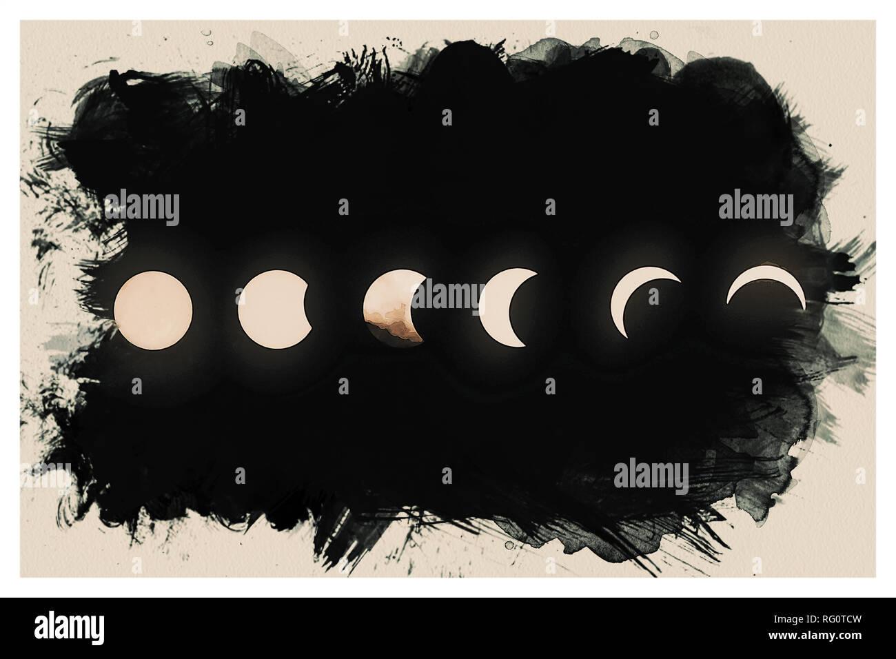 Solar Eclipse Pantng.jpg - RG0TD0 - Stock Image