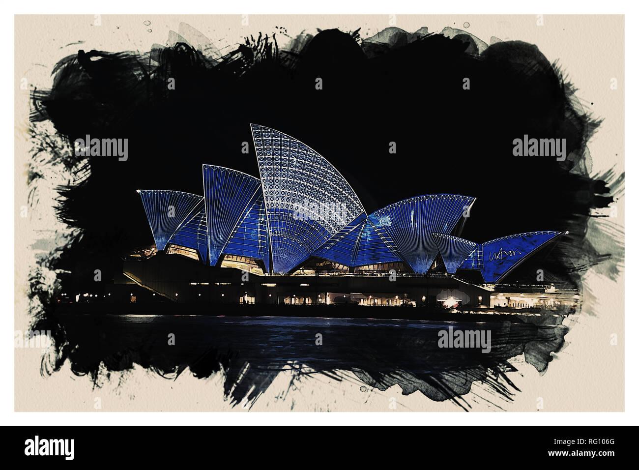 Wonders of the Worlds - Opera House of Sydney.jpg - RG106G 1RG106G - Stock Image