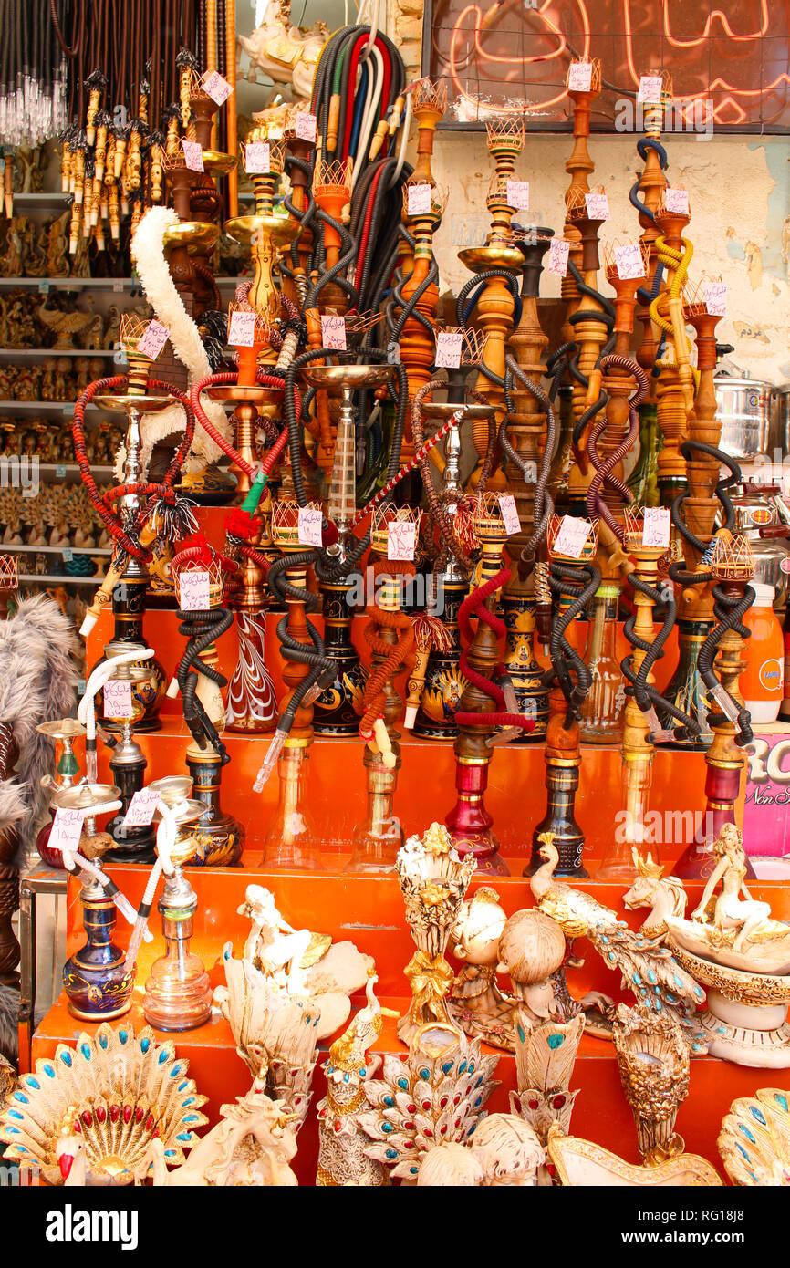 A hookah shop in Kerman, Iran - Stock Image
