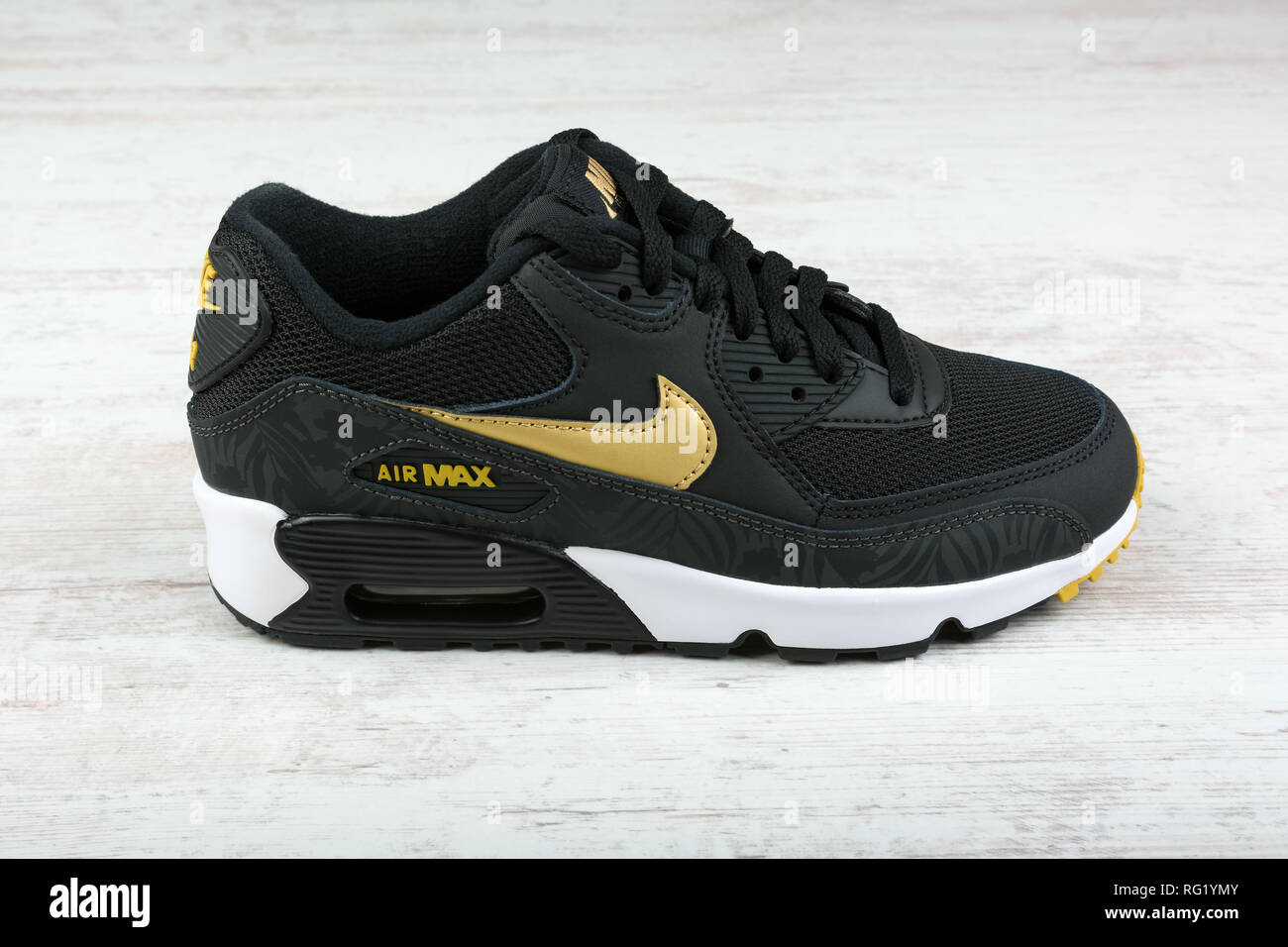 ce3f065049 BURGAS, BULGARIA - DECEMBER 29, 2016: Nike Air MAX women's shoes - sneakers