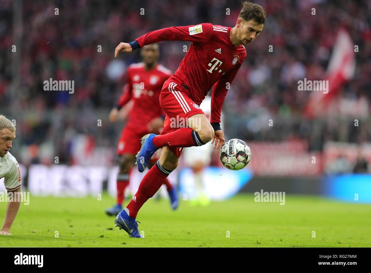 firo: 27.01.2019, Fuvuball, 1.Bundesliga, season 2018/2019, FC Bayern Munich - VFB Stuttgart, Leon Goretzka, FC Bayern, Munich, Munich, Munich Munich, whole figure | usage worldwide Stock Photo