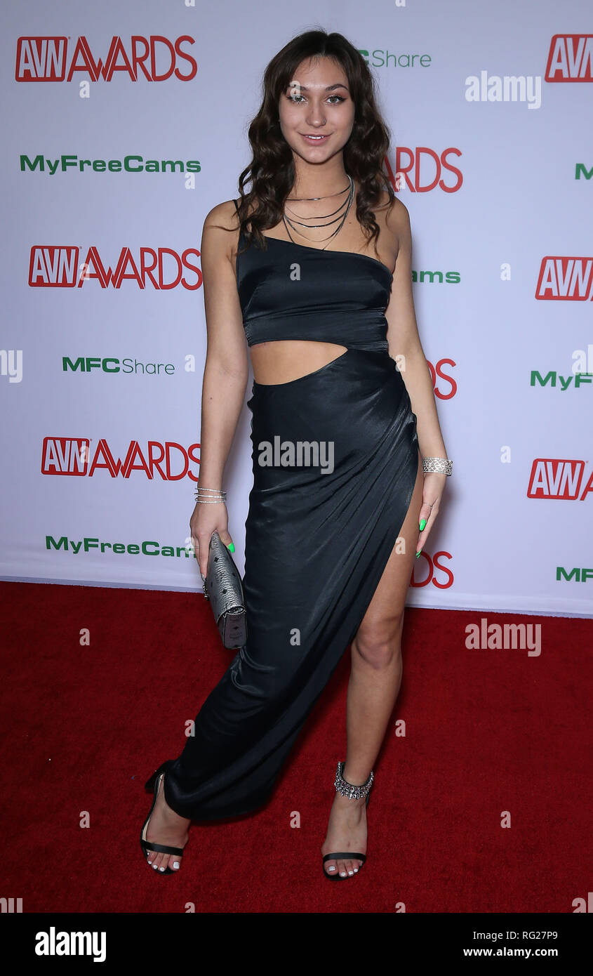 26 January 2019 Las Vegas Nv Ana Rose 2019 Avn Awards Red Carpet At The Joint Inside Hard Rock Hotel And Casino Las Vegas Photo Credit Mjt Admedia Stock Photo Alamy