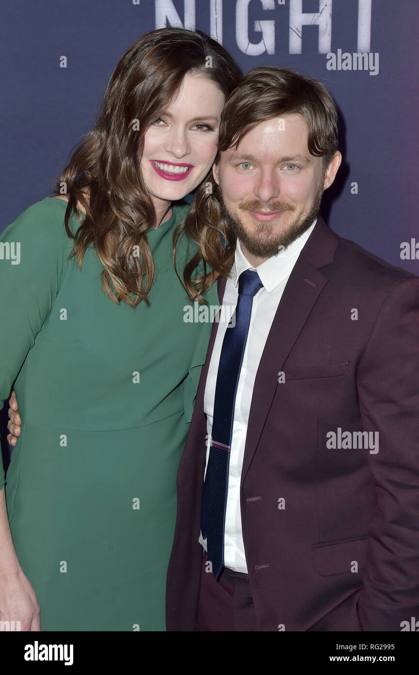 Jamie Anne Allman and Marshall Allman attending the TNT series premiere of 'I Am the Night' at Harmony Gold on January 24, 2019 in Los Angeles, California. | usage worldwide - Stock Image