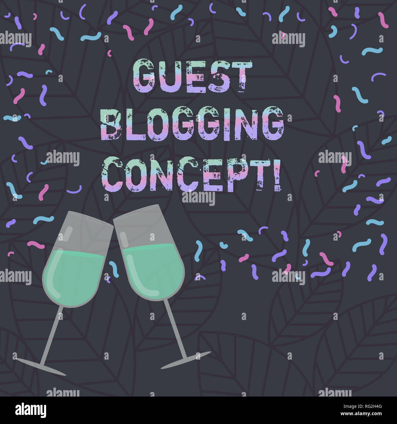Conceptual hand writing showing Guest Blogging Concept