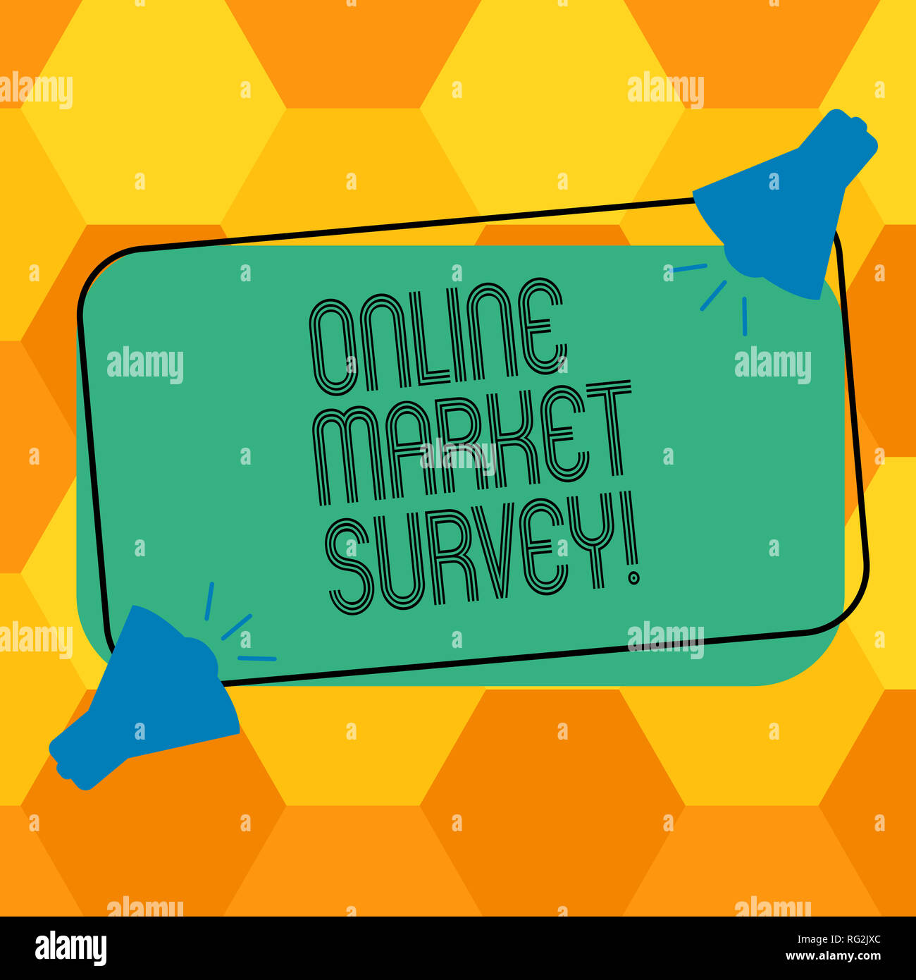Handwriting Text Writing Online Market Survey Concept Meaning