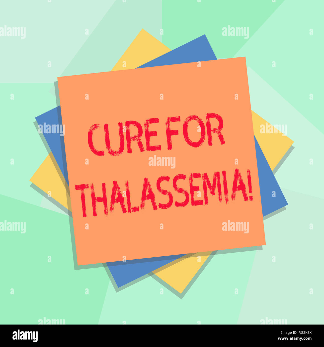 Conceptual hand writing showing Cure For Thalassemia. Business photo showcasing Treatment needed for this inherited blood disorder Multiple Layer of S - Stock Image