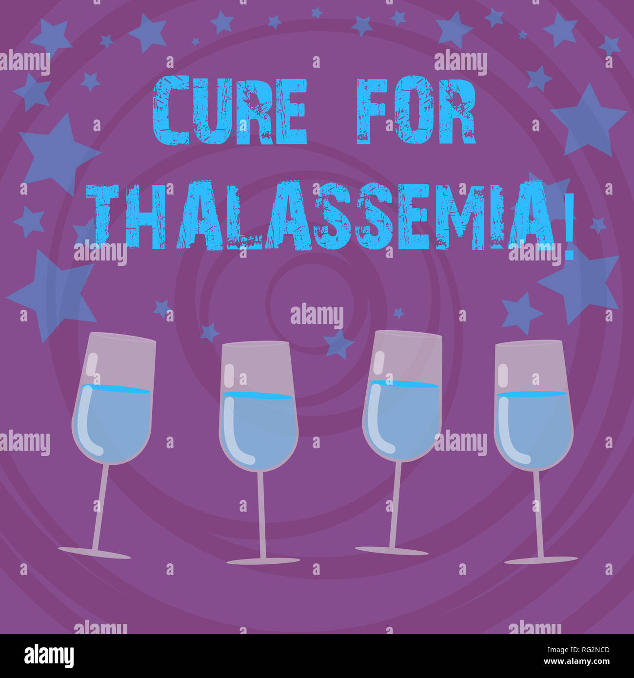 Conceptual hand writing showing Cure For Thalassemia. Business photo text Treatment needed for this inherited blood disorder Filled Cocktail Wine with - Stock Image