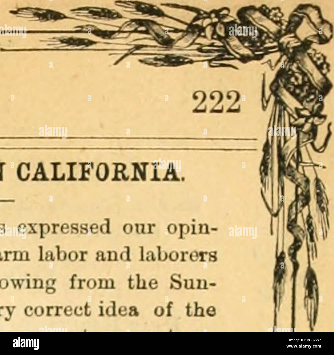 . California agriculturist and live stock journal. Agriculture -- California; Livestock -- California; Animal industry -- California. California Agriculturist and Live Stock Journal.. it really fit for the Gods ! The alcohol it now contains, which is the one thing that makes it desirable, will be deprived of its druuken- ing qualities or power, and be harmlessly exhilerating and charmingly extatic in its manifold goodness. Partakers thereof can then get glorious without getting drunk, and then growing appetites for something stronger will lead only to a harmless indulgence in a little more gra - Stock Image