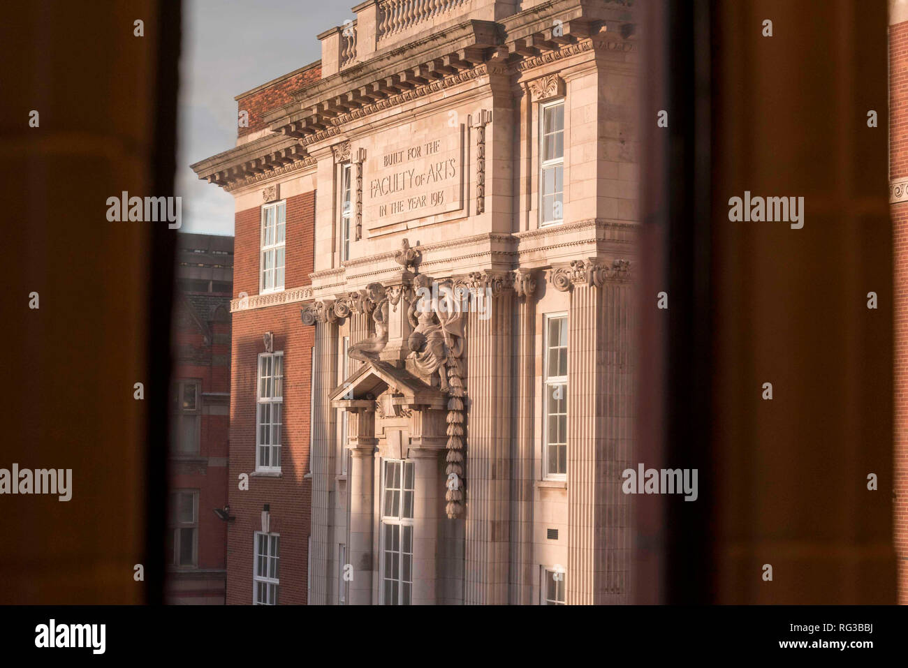University of Liverpool Faculty of Art Building in the year 1913 - Stock Image