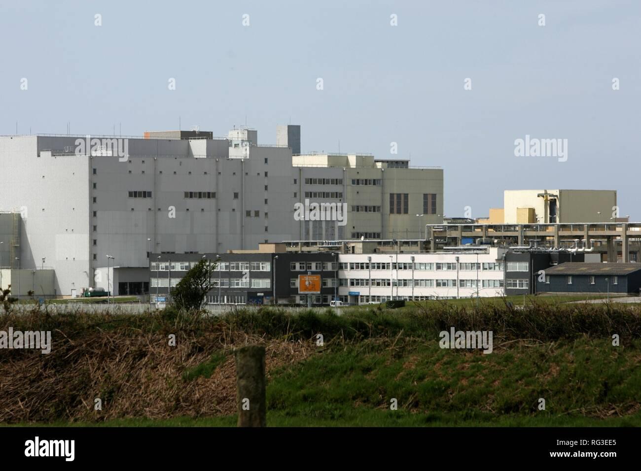 FRA, France, Normandy: COGEMA (Compagnie Generale des Matieres Nucleaires) nuklear reprocessing plant, La Hague. Stock Photo