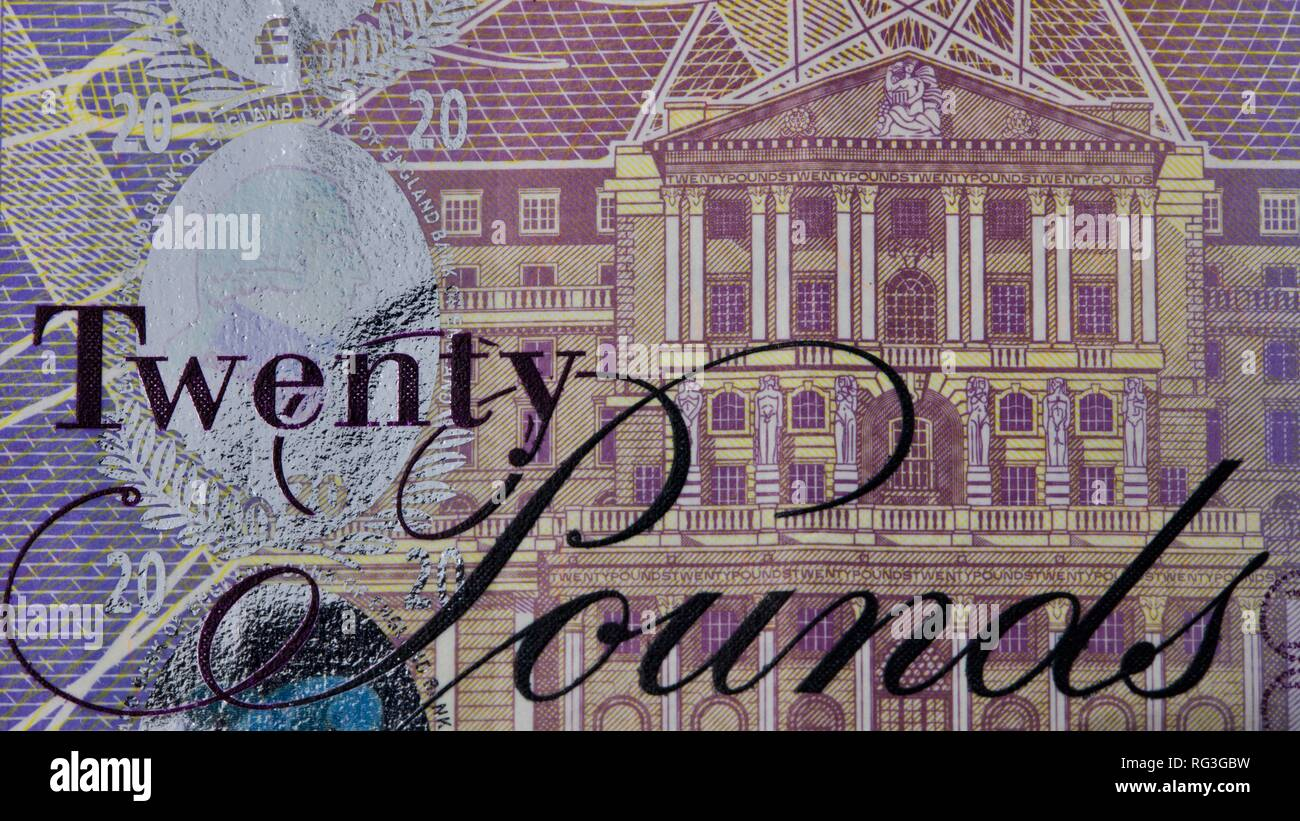 Bank of England £20 note - Stock Image