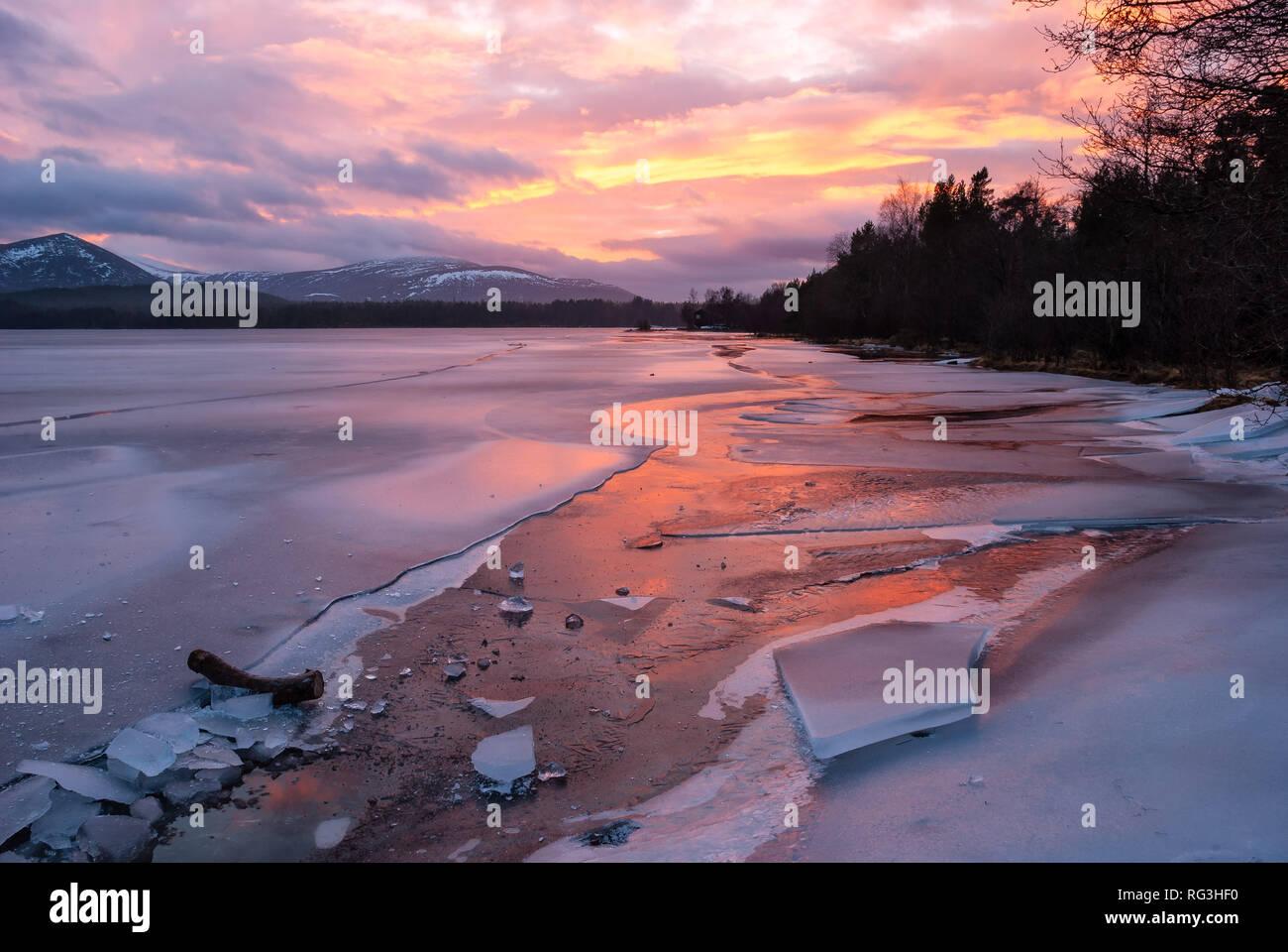 Loch Morlich, Aviemore, Badenoch, Scotland, United Kingdom Stock Photo