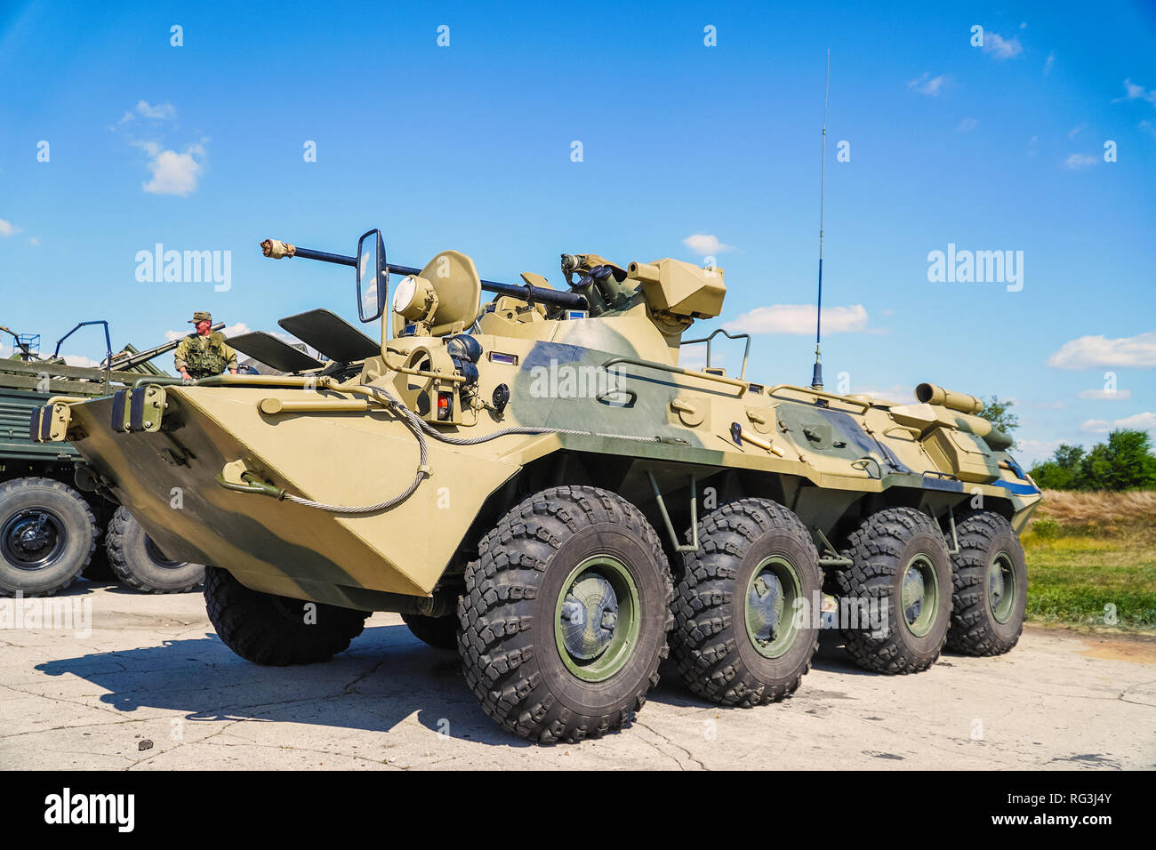 Russian infantry Fighting vehicle IFV. Worth the armament of the Russian Army Stock Photo