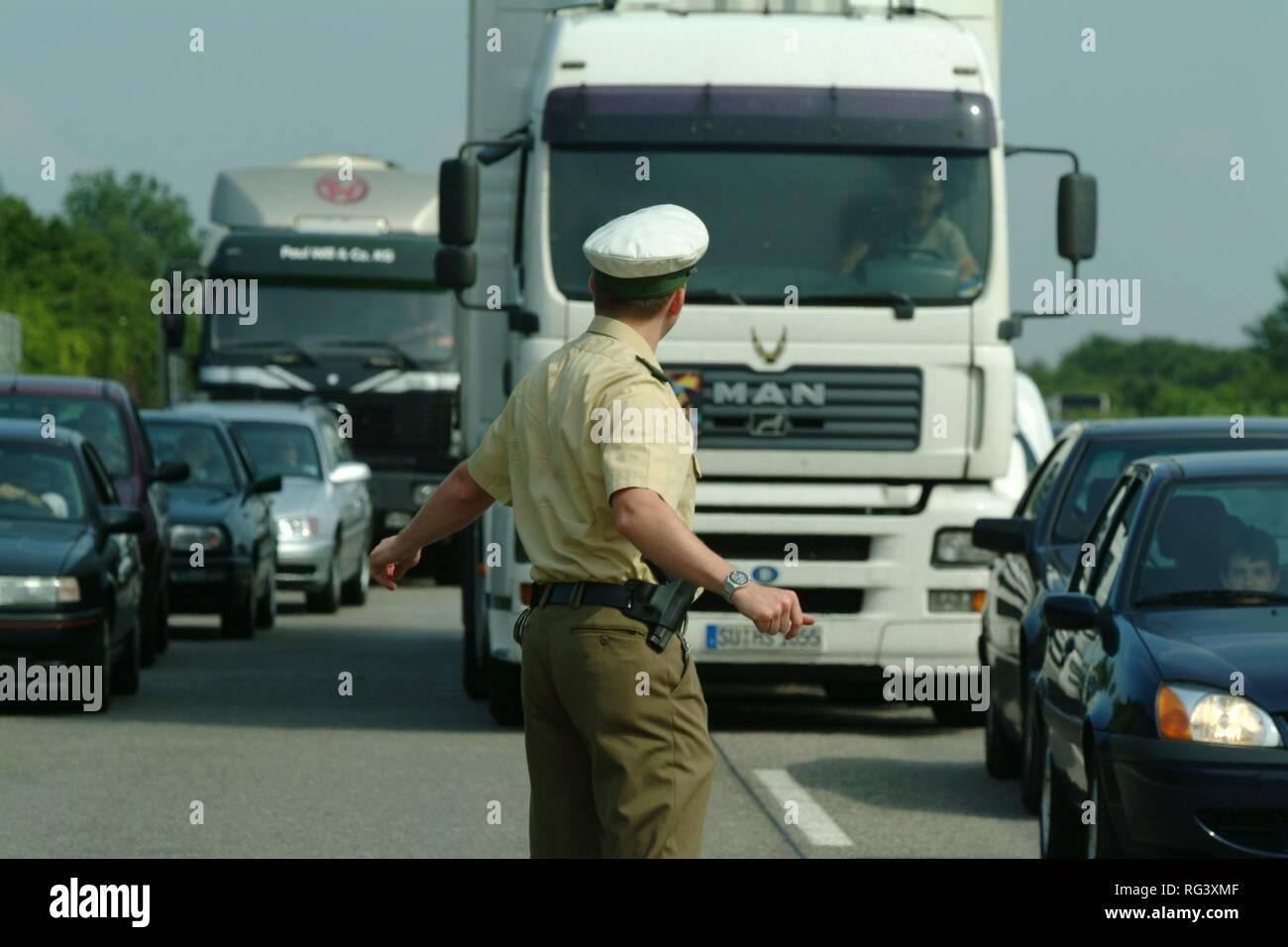 DEU, Germany, NRW: Highwaypolice, Highway patrol. - Stock Image