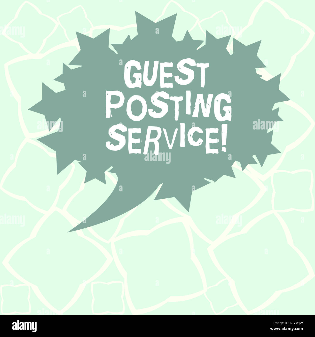 Writing note showing Guest Posting Service  Business photo