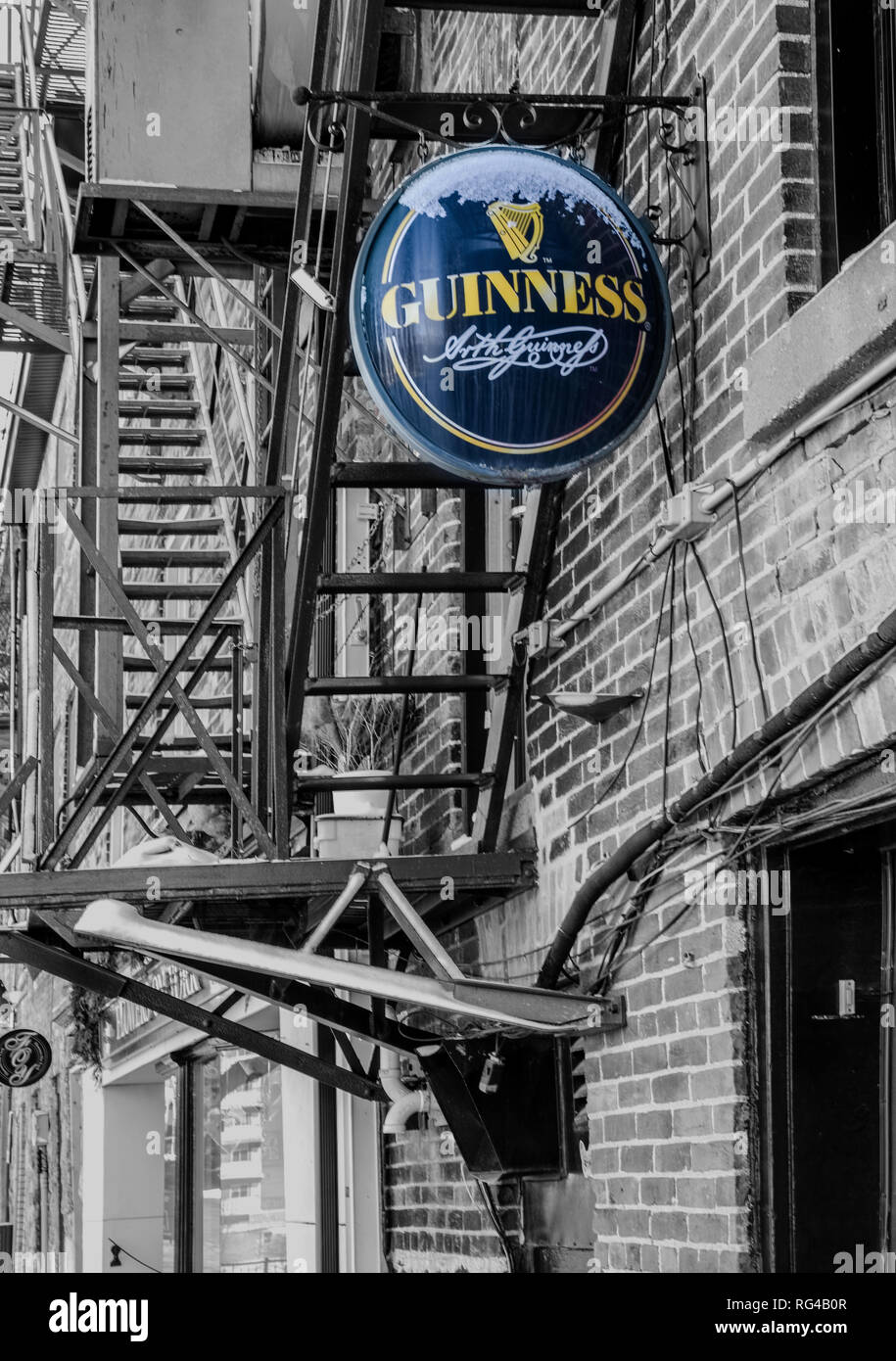 A Guinness signboard viewed in Stratford, Ontario. - Stock Image