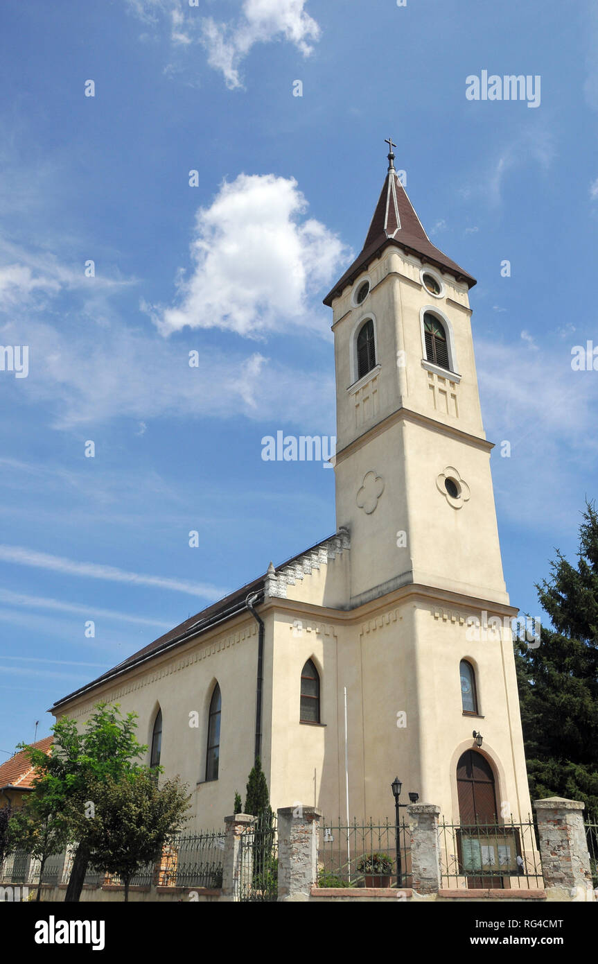 Lutheran Church in Fót, Hungary. - Stock Image