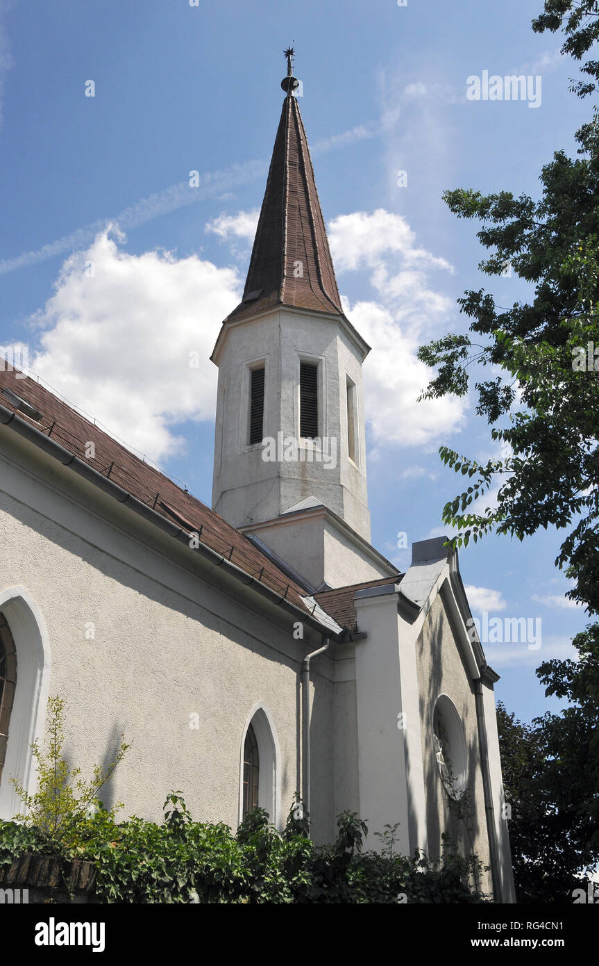 Reformed Church in Fót, Hungary. - Stock Image