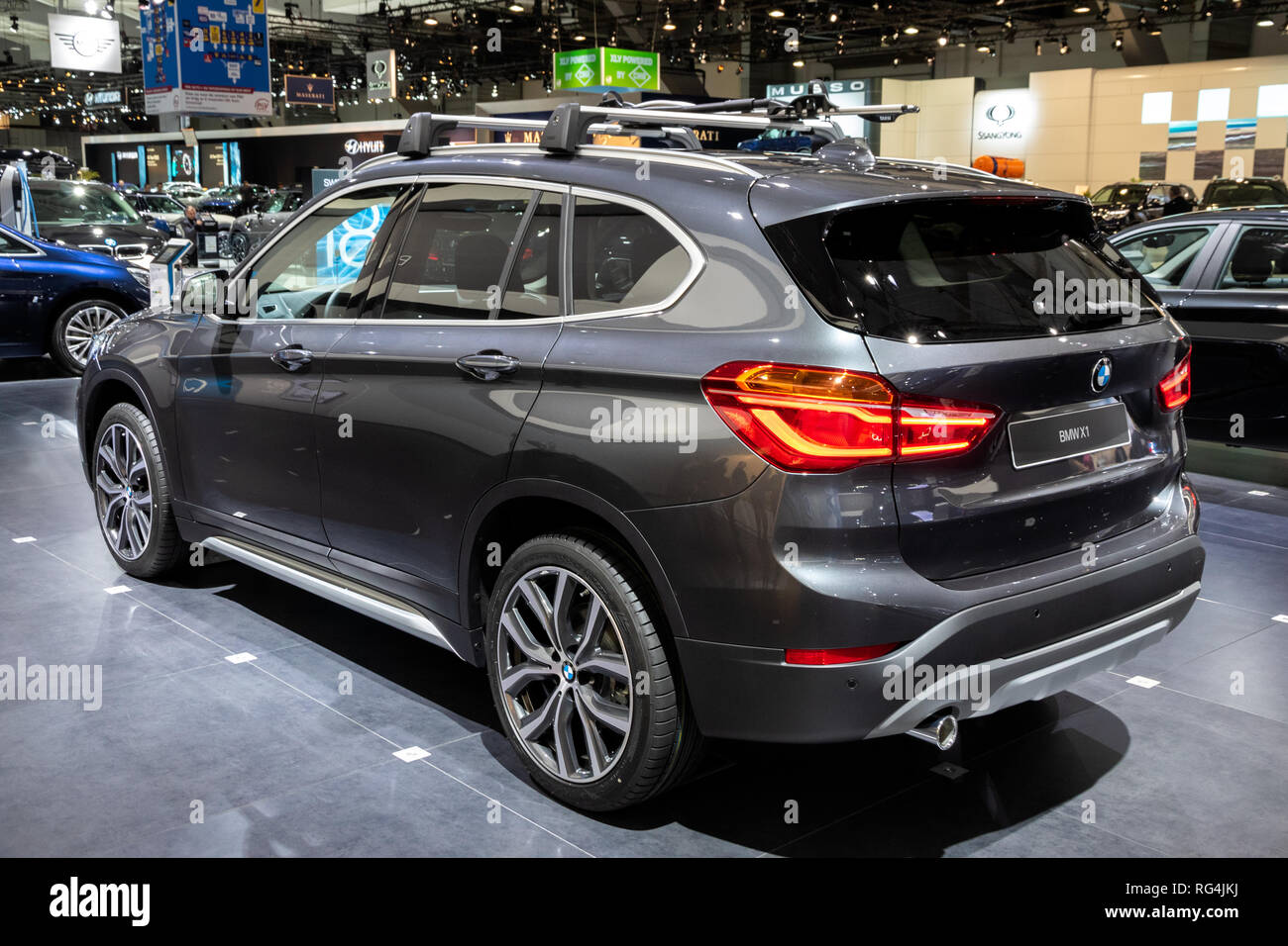Brussels Jan 18 2019 Bmw X1 Car Showcased At The 97th Brussels