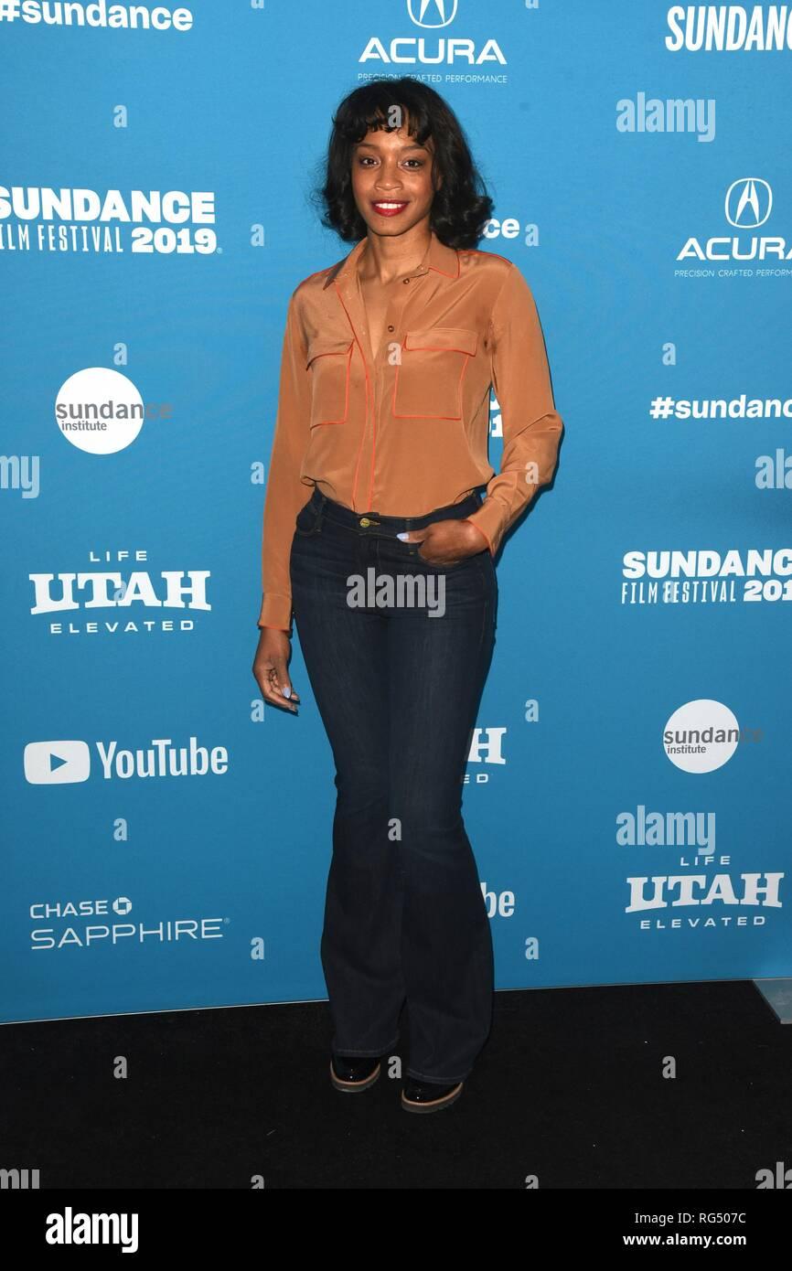 Park City, Utah, USA  27th Jan 2019  Shinelle Azoroh arrives