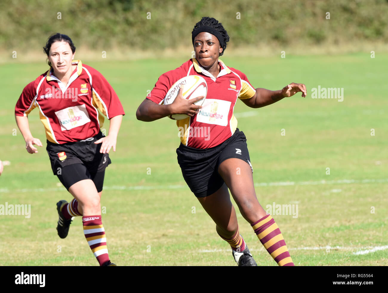 Ladies amateur rugby union - Stock Image