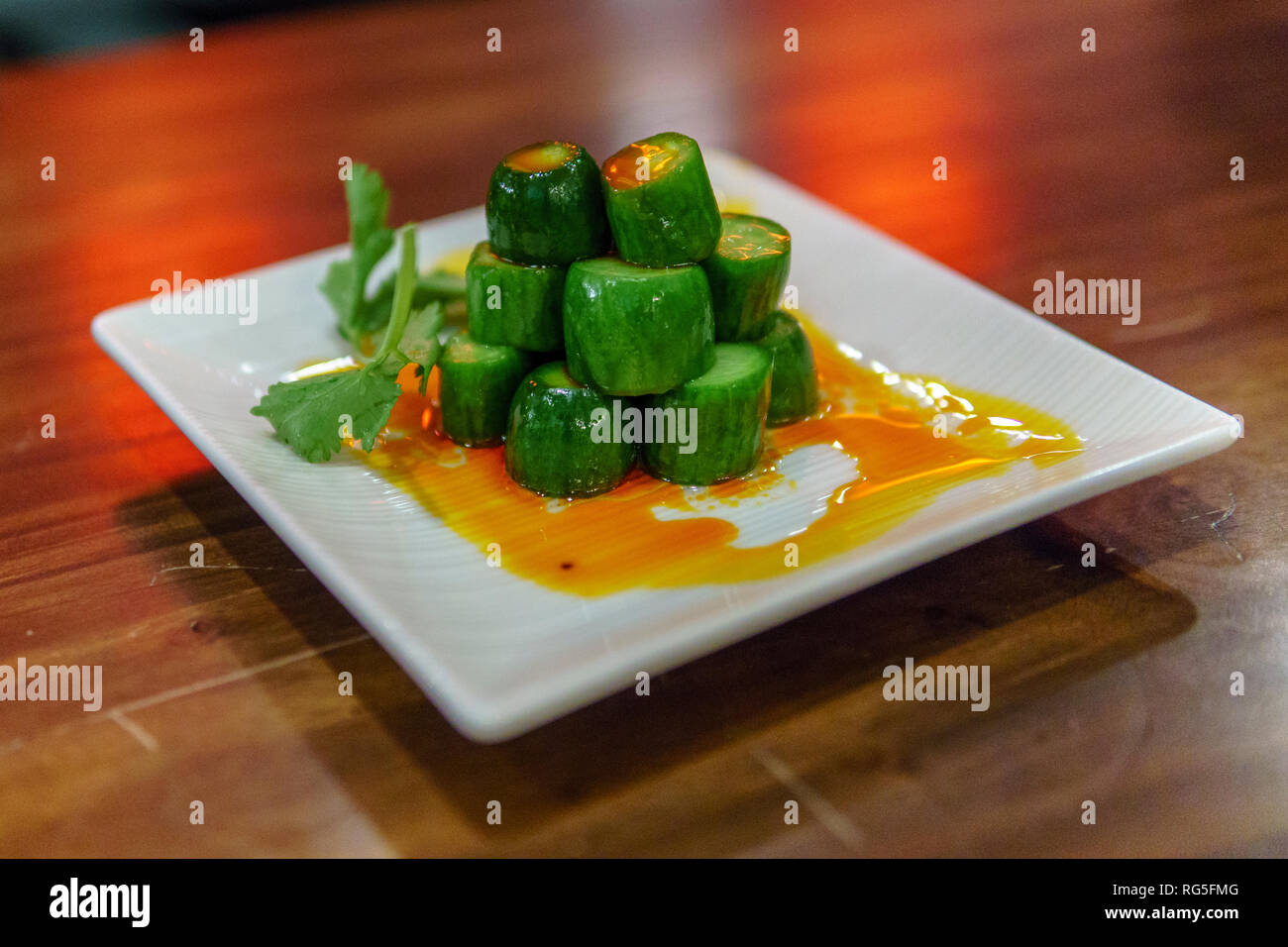 Lin Asian Bar + Dim Sum Restaurant, Austin Texas - Stock Image