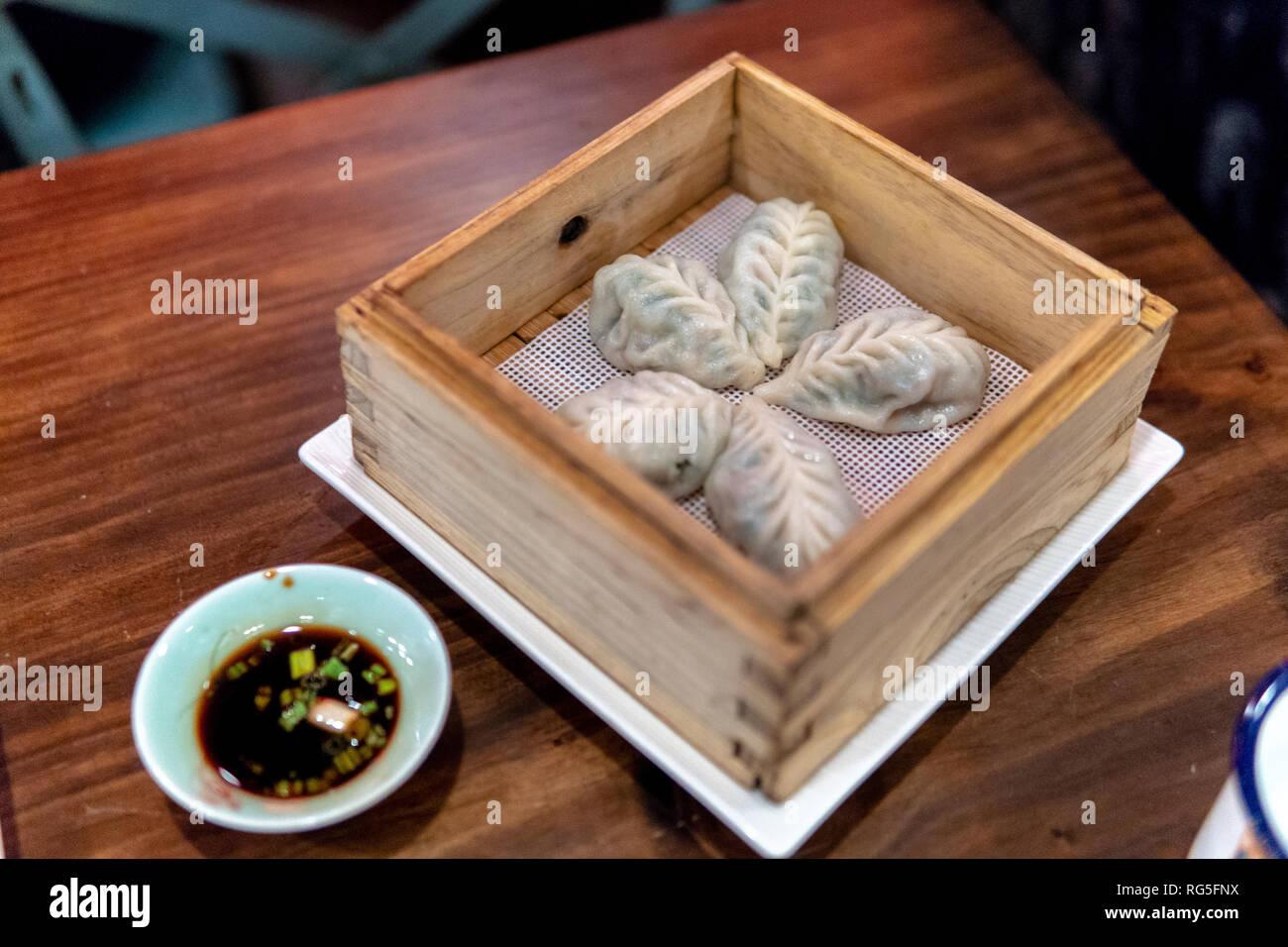 Lin Asian Bar Dim Sum Restaurant Austin Texas Stock Photo