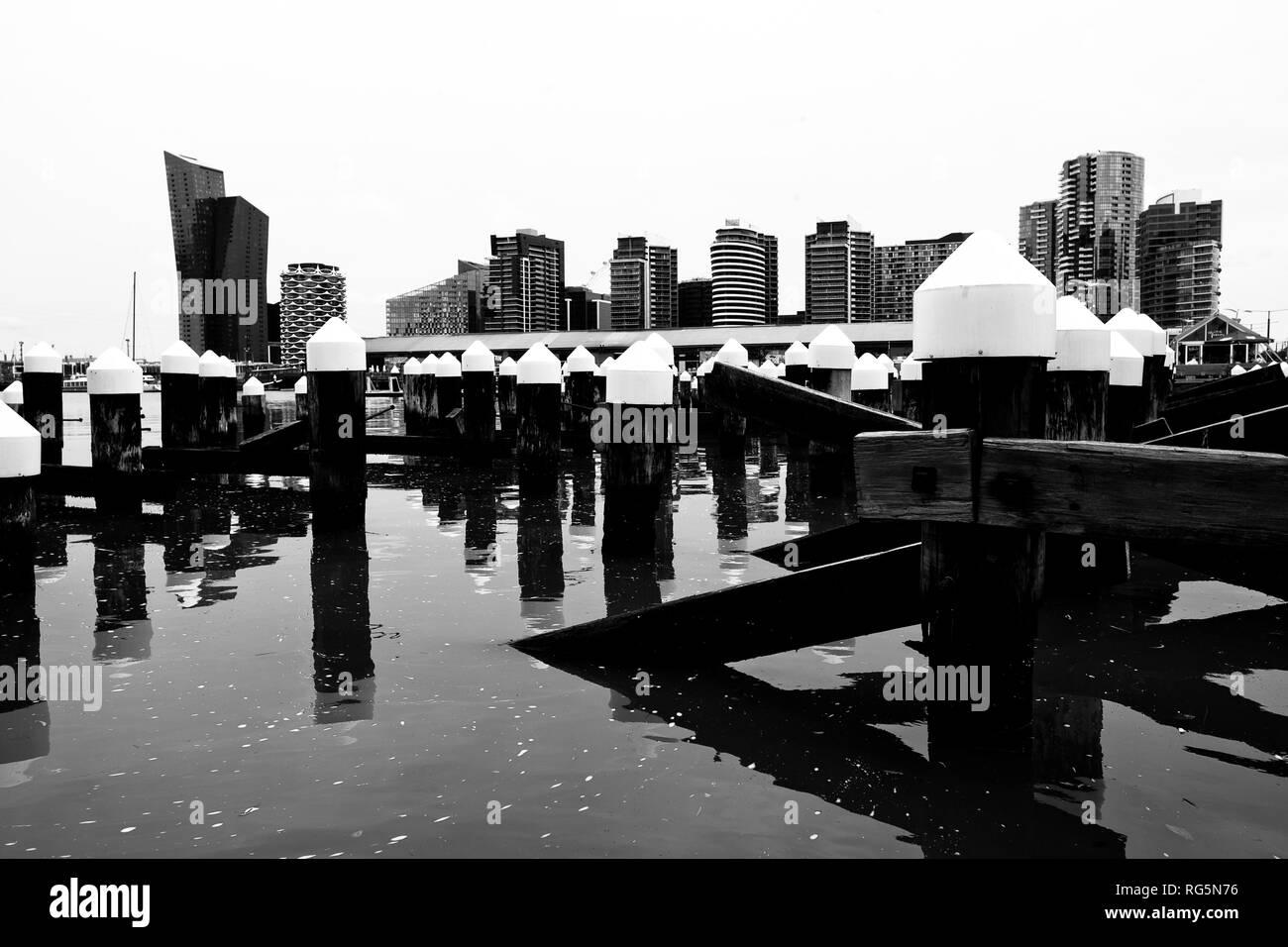 Australia, Victoria, VIC, Melbourne, Docklands, Victoria Harbour - Stock Image