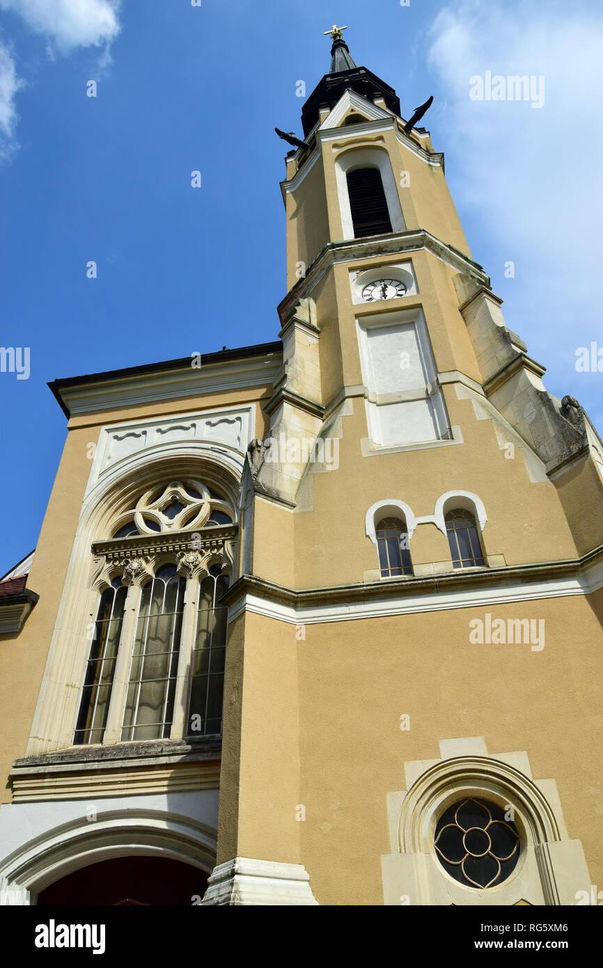 Roman Catholic Church in Rönök, Hungary. - Stock Image