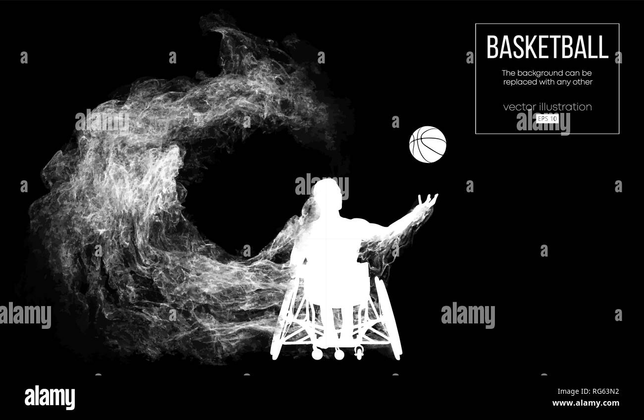 Abstract silhouette of a basketball player - Stock Image