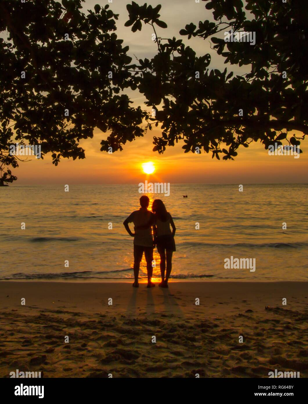 A couple on a romantic getaway - Stock Image