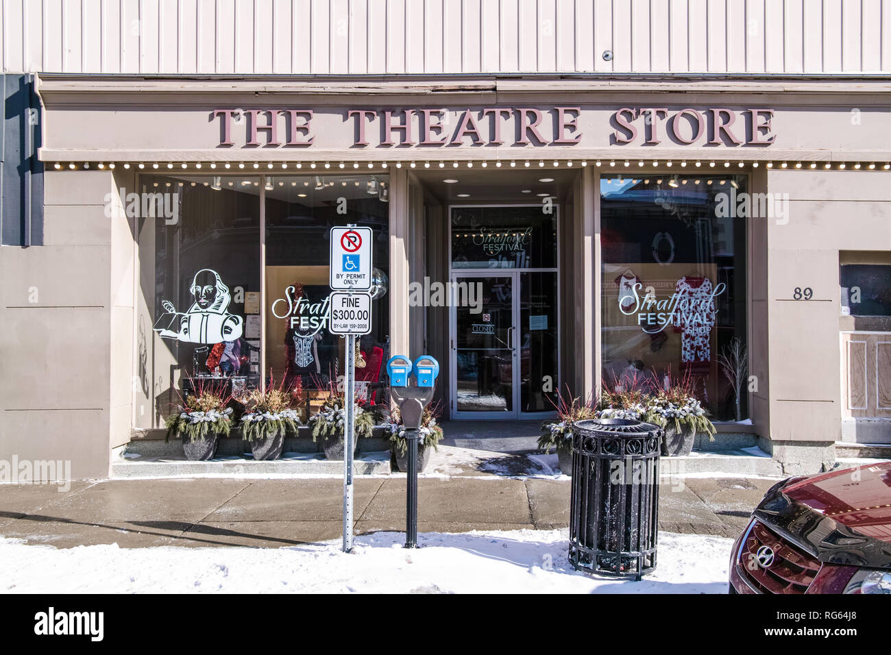 A view of The Theatre Store front in Stratford, Ontario, Canada. - Stock Image