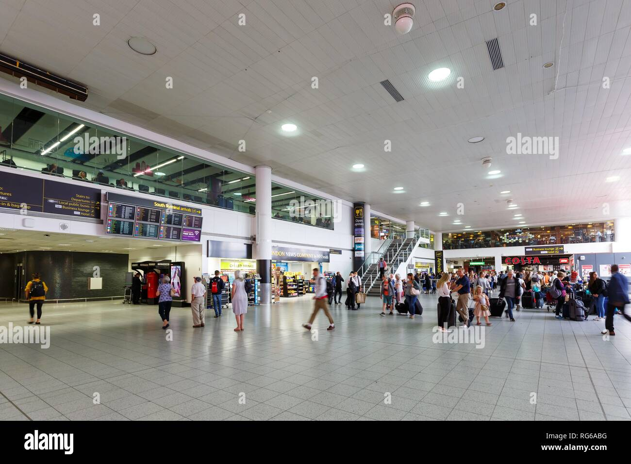 London, United Kingdom - July 31, 2018: South Terminal at London Gatwick airport (LGW) in the United Kingdom. | usage worldwide - Stock Image