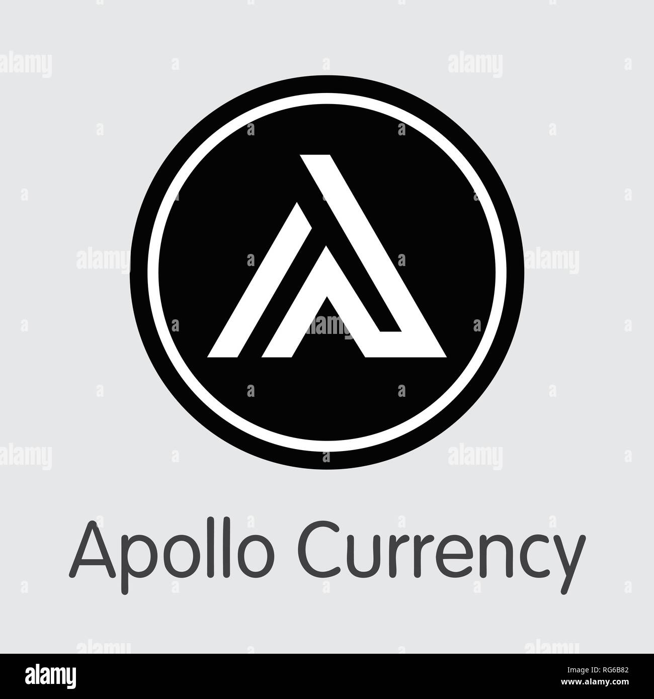 APL - Apollo Currency. The Icon of Coin or Market Emblem. - Stock Vector